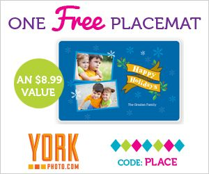 FREE Personalized Placemat! (just pay shipping)