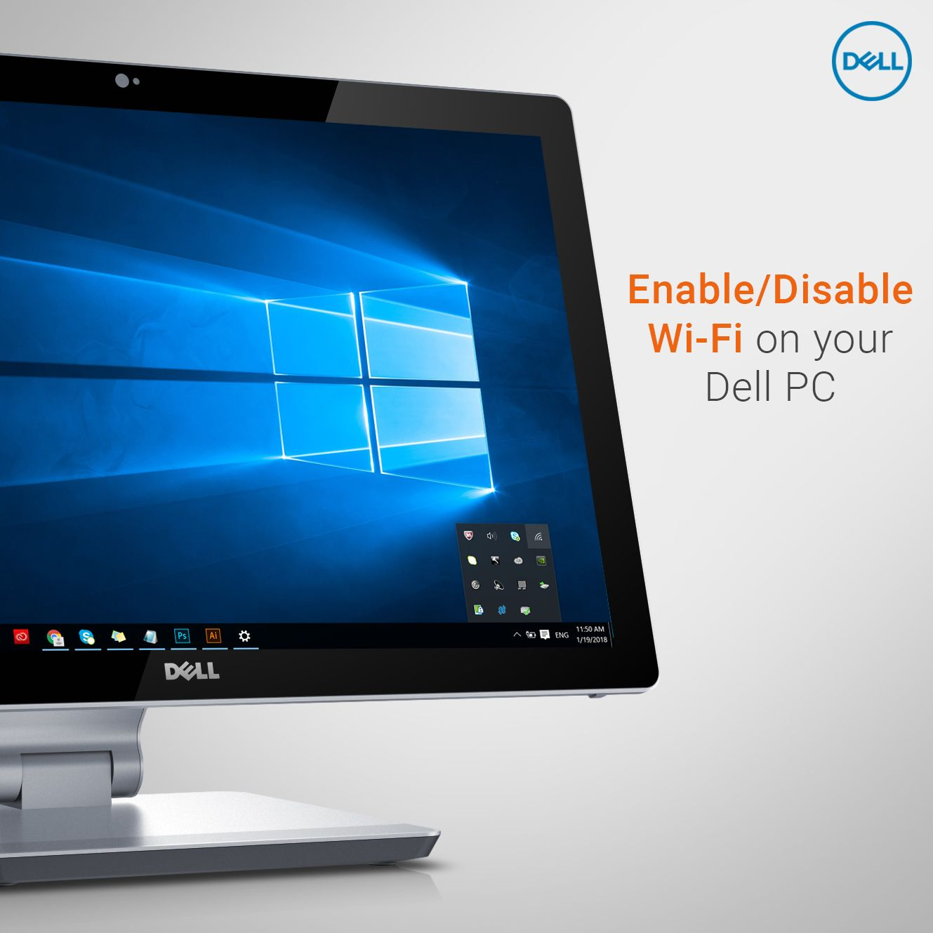 Enabling or Disabling wifi on current #Dell PCs is easy