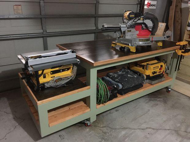 All In One Work Bench Garage Storage Garage Woodworking