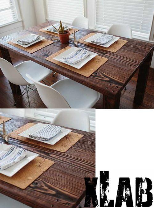 Tavolo da cucina economico low cost legno massello Xlab ...