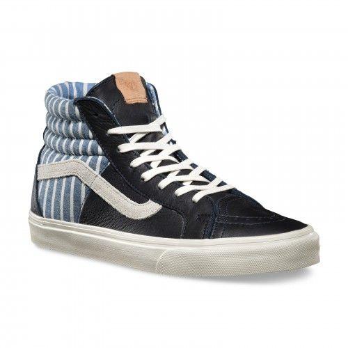 vans sk8 hi 46 ca striped dress blue