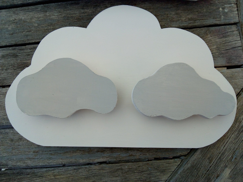 Applique 3d Wood Wall Child Soft 3d Embossed Cloud Cloud Custom Wood