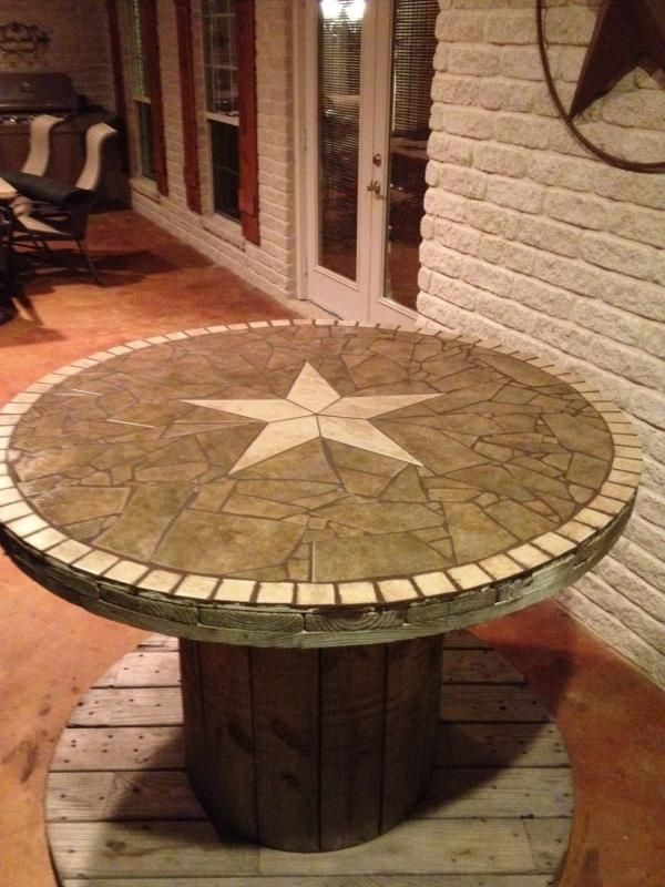 Wooden spool table community for Large wooden spools used for tables
