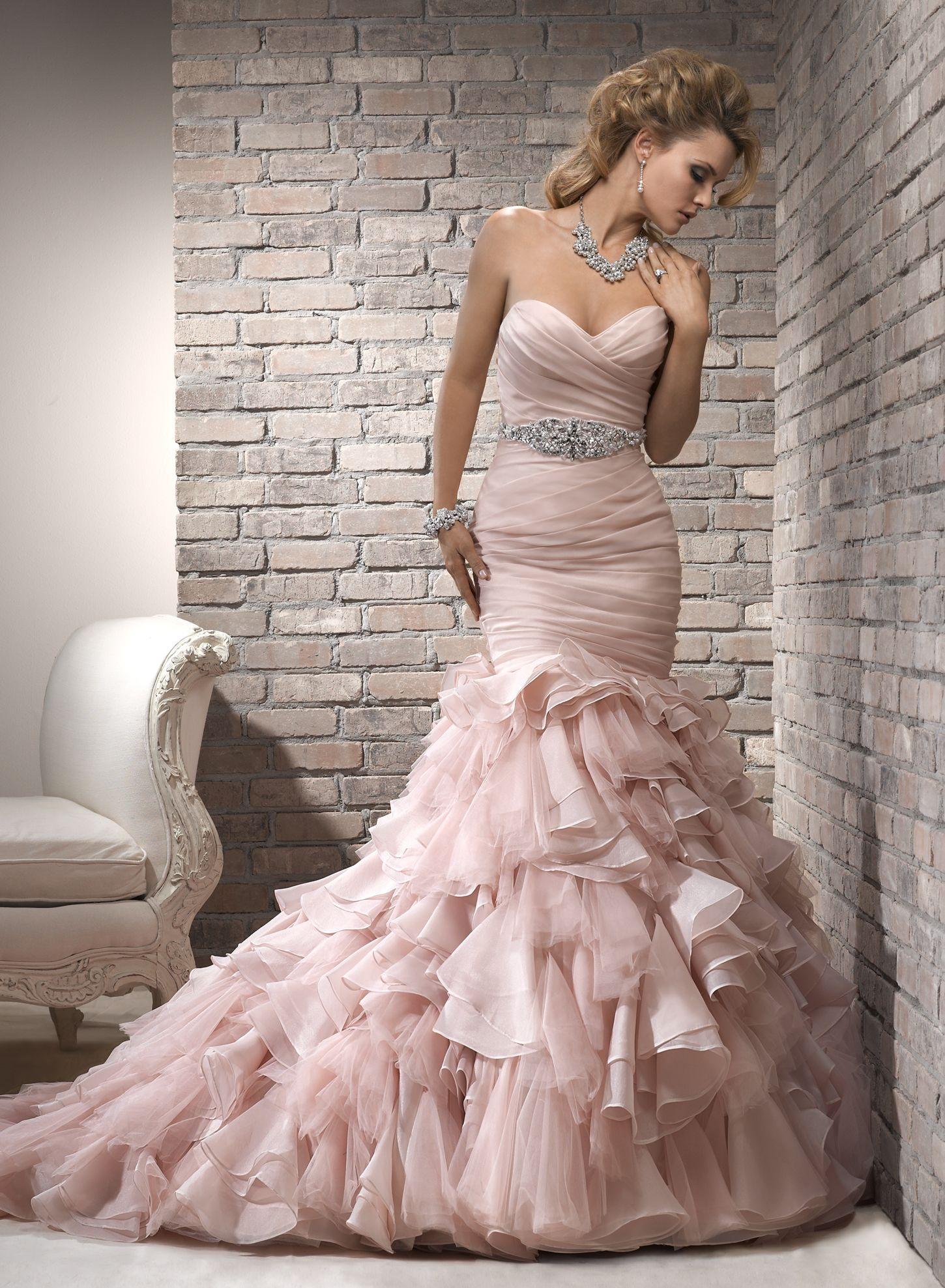 Maggie Sottero Wedding Dresses Pink Wedding Dresses Blush Pink