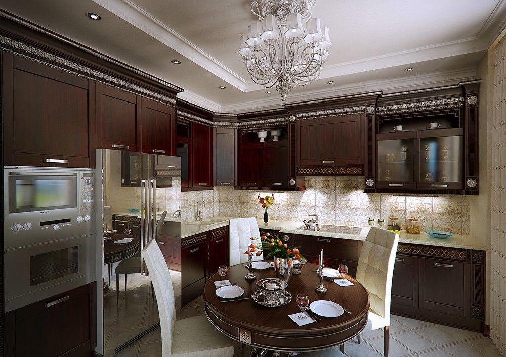 2013 Modern Kitchen with Round Dining Room Kitchen Designs