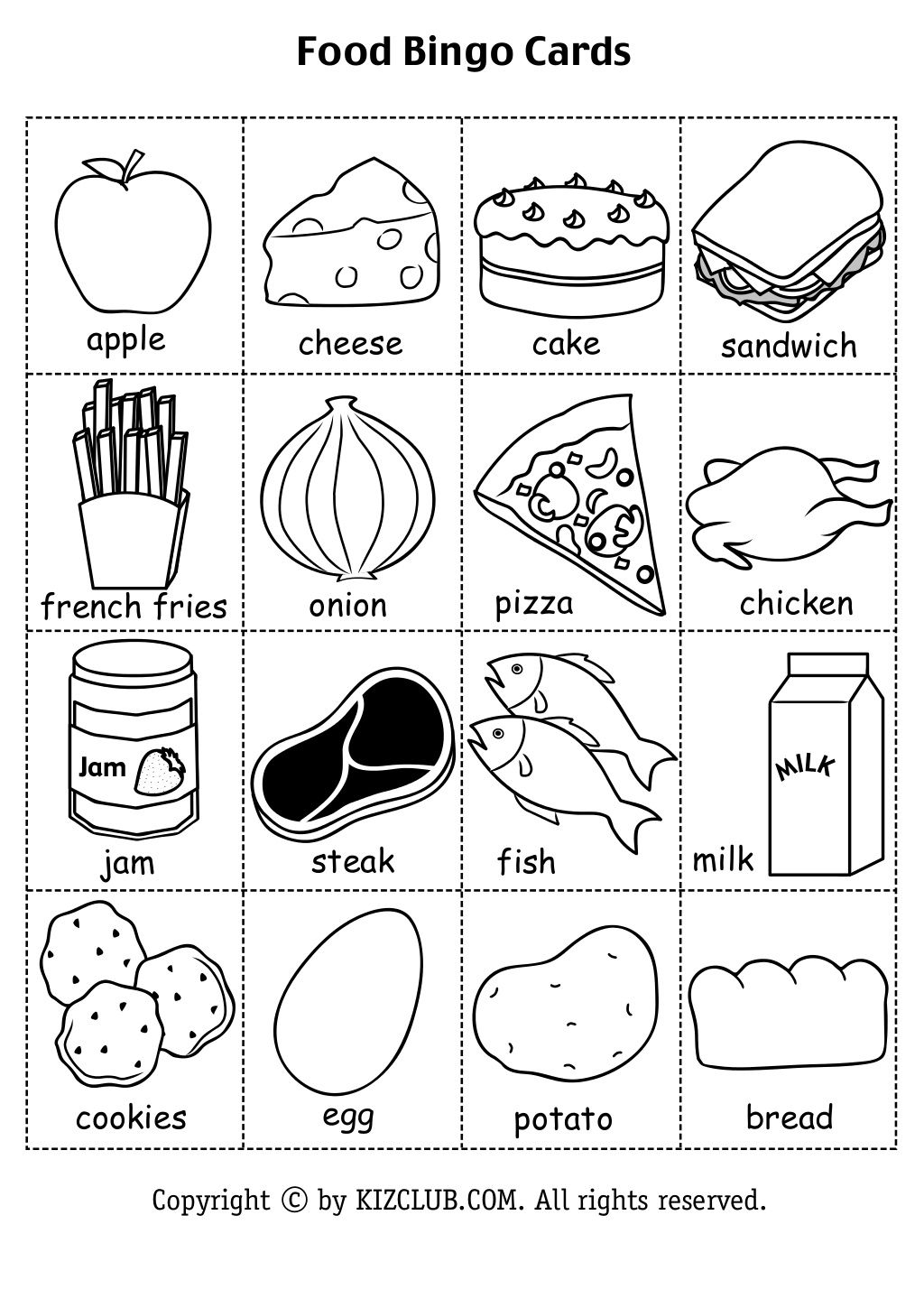 Spanish Food Worksheets