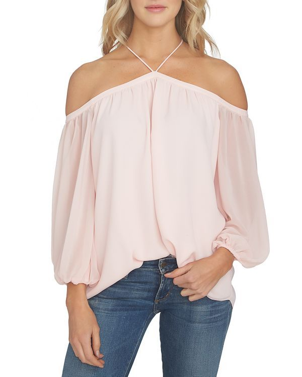 897a672fd51 1 STATE 1.STATE Cold-Shoulder Blouse in 2019 | My Style | Sheer ...