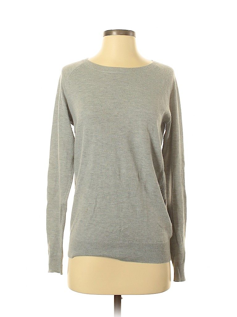 Brixon Ivy Pullover Sweater: Gray Solid Tops Size Small in