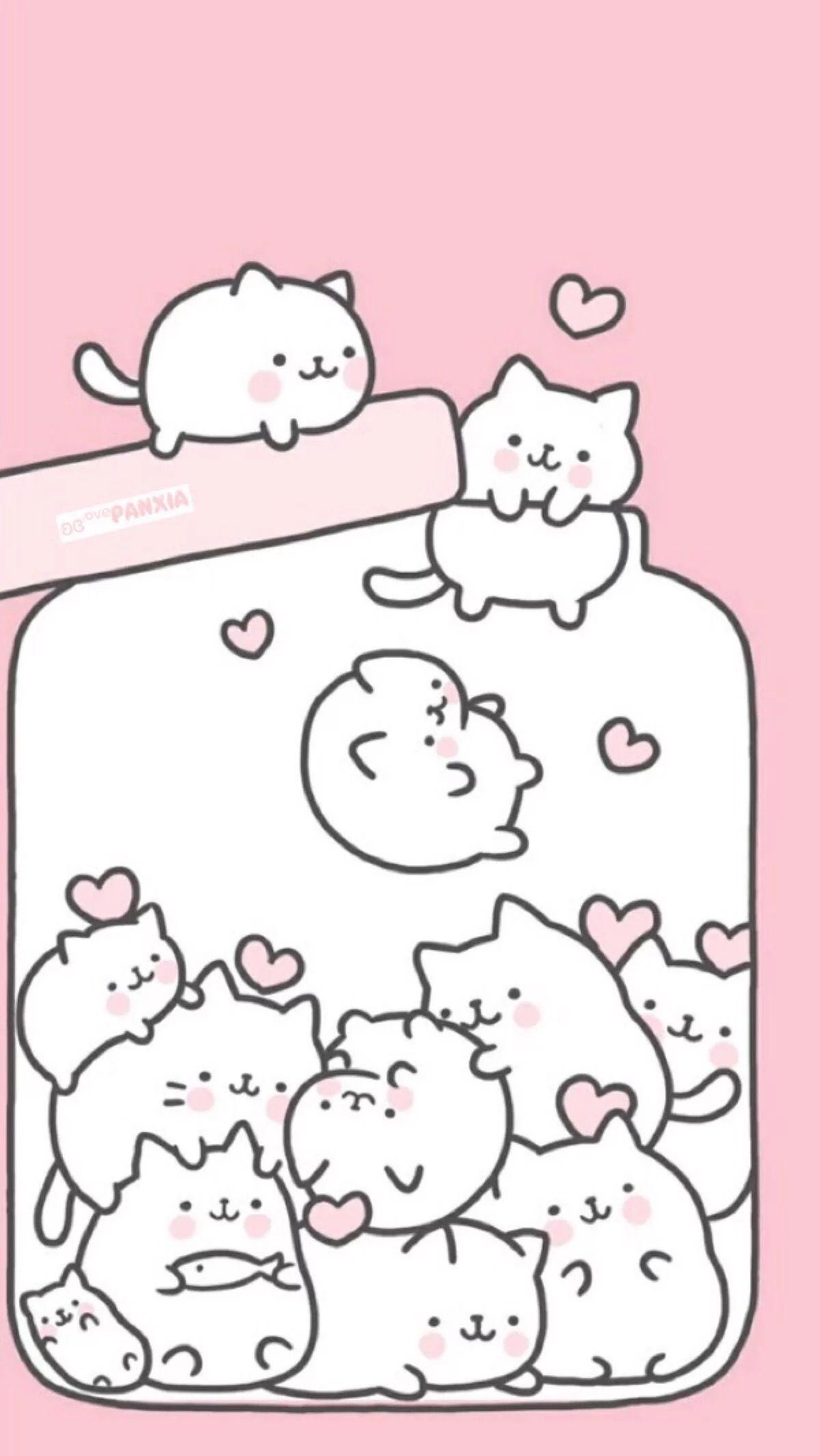 Dessins chats kawaii | Cute wallpapers, Kawaii background