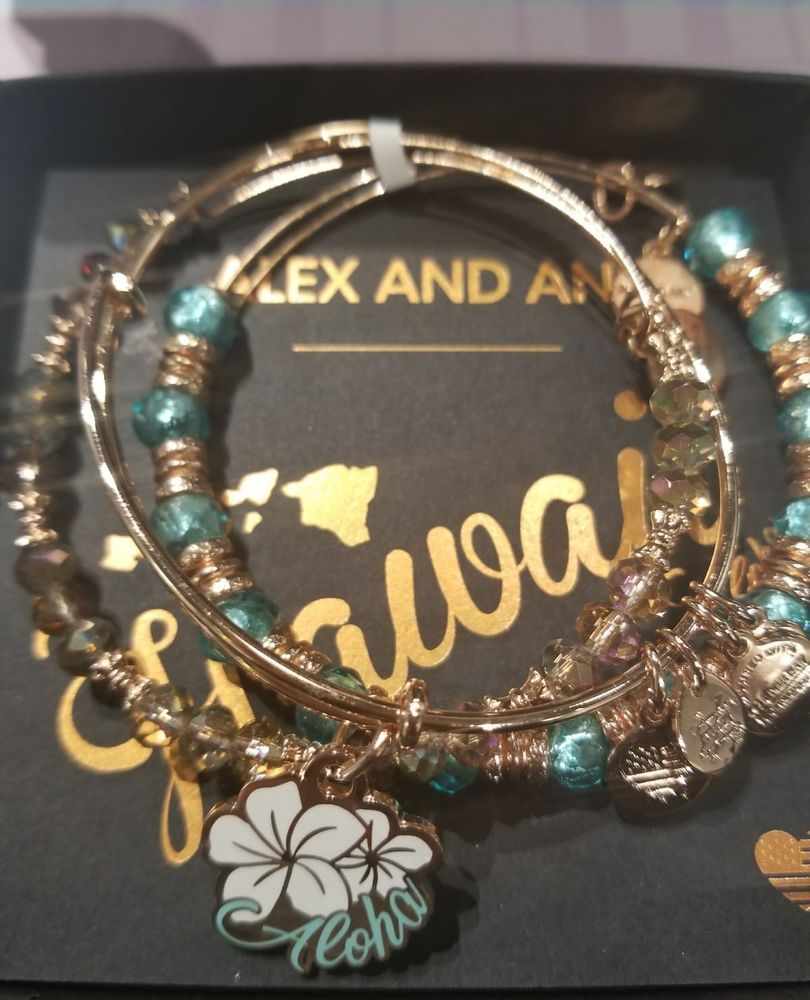 521313ce5 ALEX & ANI Aloha Hawaii Bangle Russian Rose Gold Exclusive Authentic  Limited Set (eBay Link)
