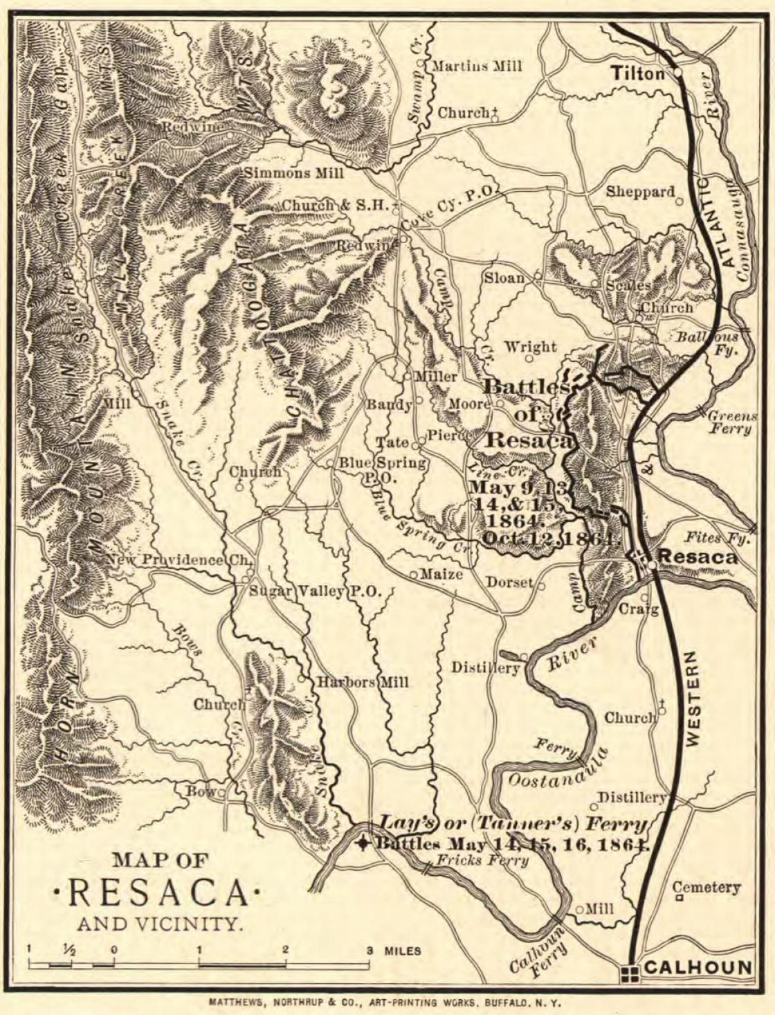 Map Of Resaca And Vicinity Fifth Georgia Infantry Csa Pinterest