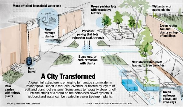 A City Transformed Storm Water Management Stormwater Water Management Rainwater