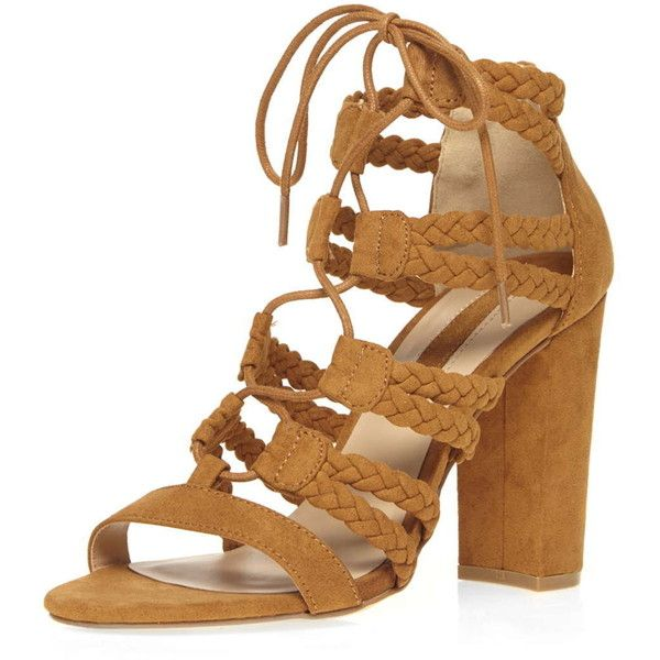 47771d980e Dorothy Perkins Tan 'St-Tropez' Sandals ($50) ❤ liked on Polyvore featuring  shoes, sandals, brown, strappy high heel sandals, tan sandals, strappy  sandals, ...