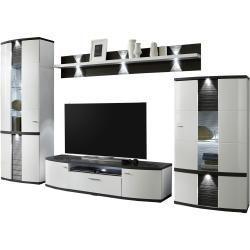 uno Wohnwand Gabbro - weiß - 315 cm - 209 cm - 50 cm - Wohnzimmermöbel > Wohnwände Uno