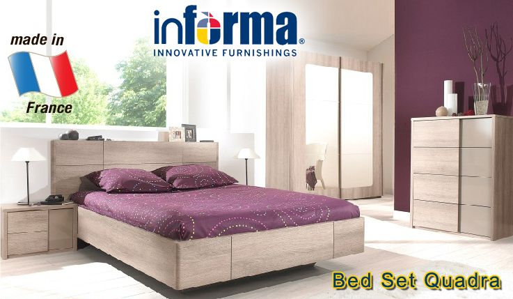 Quadra Bed Set Informa Co Id Bedroom Sets Wood