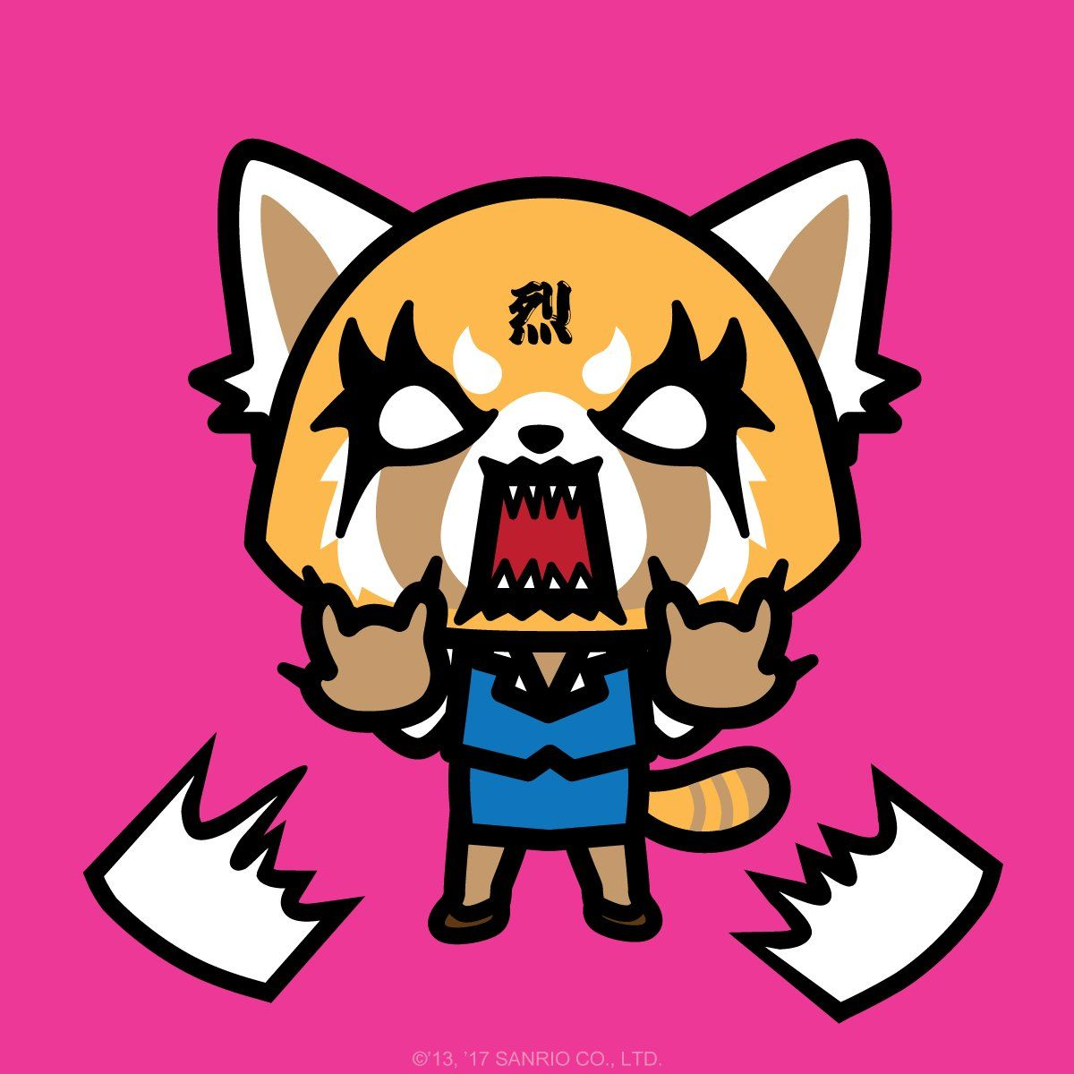 Sanrio's newest character Aggretsuko! She's a 25yearold