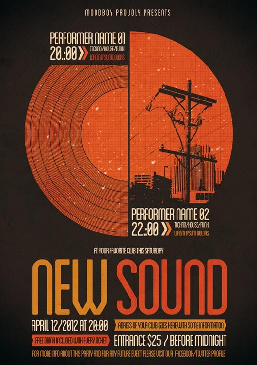 New Sound Flyer   Poster Graphic Design Pinterest Graphic - event flyer examples