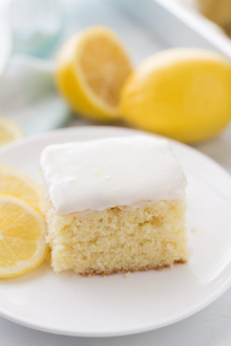 Lemon Sour Cream Cake Recipe In 2020 Sour Cream Cake Lemon Sour Cream Cake Snack Cake