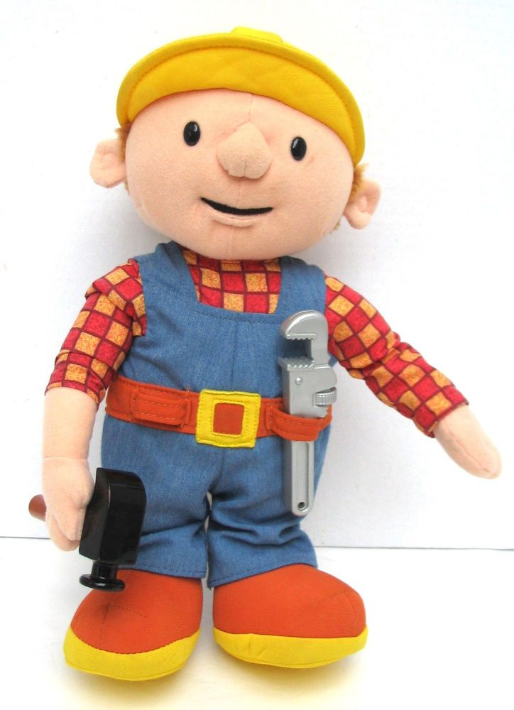 Bob the Builder Talking Stuffed Plush Doll Figure Hammer ...