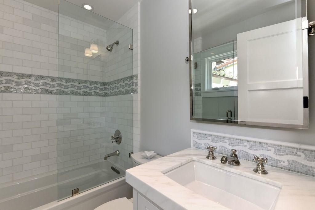 Traditional Full Bathroom With Specialty Door Undermount Sink Tiled Wall Showerbath Ceramic Tile Compl Bathroom Tile Designs Bathroom Top Amazing Bathrooms