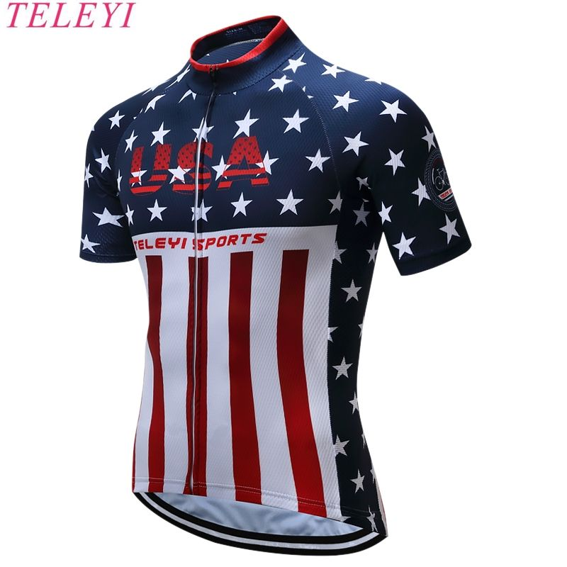 Ropa Ciclismo 100% Polyester Breathable MTB Bicycle Cycling Jerseys Quick  Dry Mans Racing Bike Pro 0c666e6ad