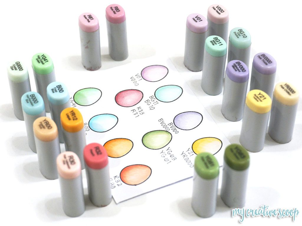 Pastel Copic Marker Color Combinations My Creative Scoop Copic Marker Art Copic Markers Tutorial Copic Sketch Markers