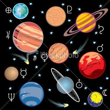 Vector Solar System The Solar System Pinterest Solar System