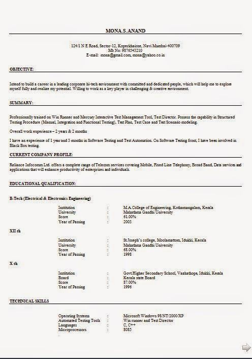 Goed Cv Sample Template Example Of Excellentcv  Resume
