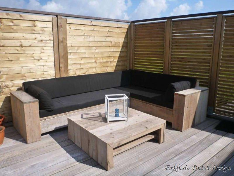 Bauholz Lounge Eckbank Berlin Online Kaufen Bei Exklusiv Dutch Design Eckgarten Diy Garten Bauen Mit Holz