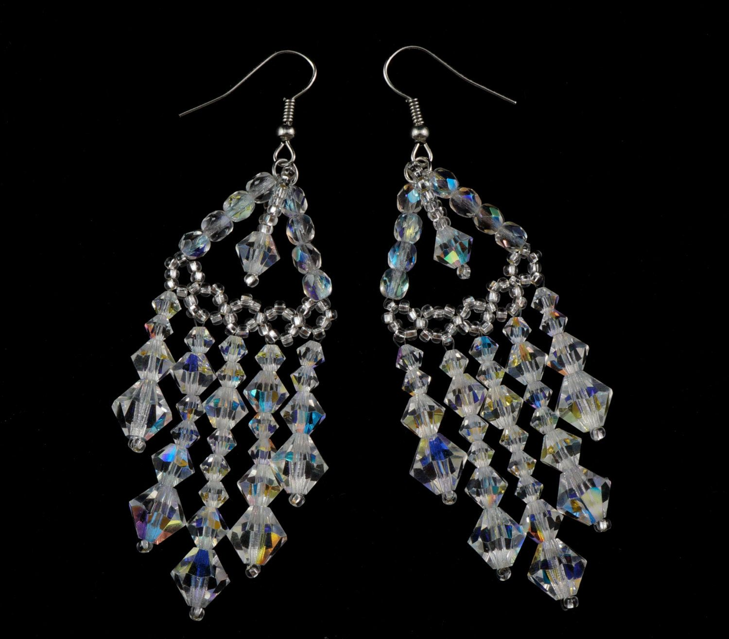 Preciosa crystal beaded chandelier earrings crystal chandelier preciosa crystal beaded chandelier earrings crystal chandelier earrings crystal tiered chandelier earrings chandelier aloadofball Image collections