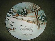 Robert Laessig Collector Plate Winter Scene Series Japan Commemorative Vintage
