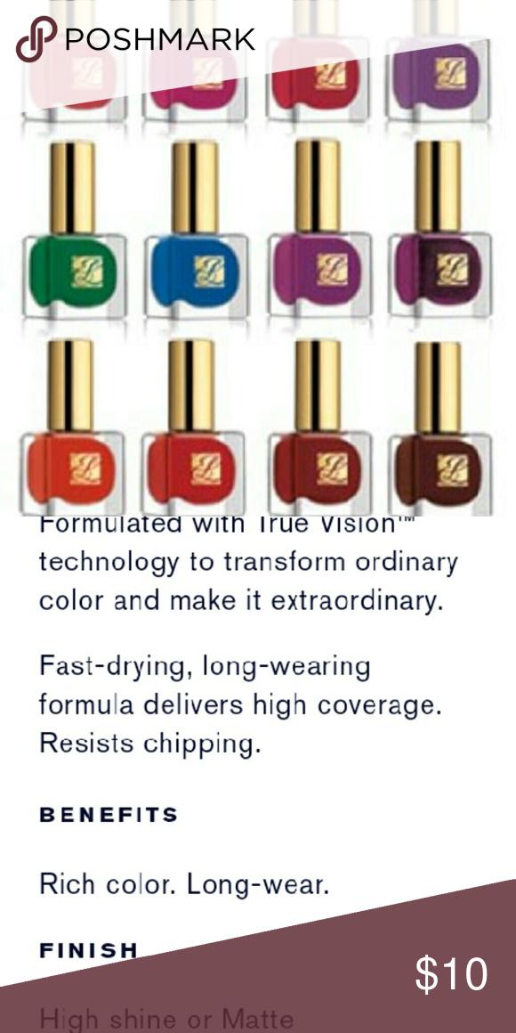 Estee Lauder Pure Color Nail Lacquer Condition NIB Description ...