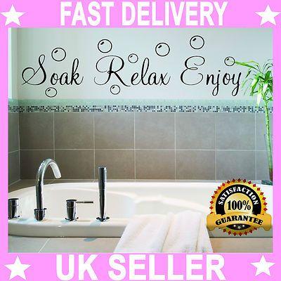 bathroom quote relax modern wall art sticker decal vinyl shabby chic new 002 ebay