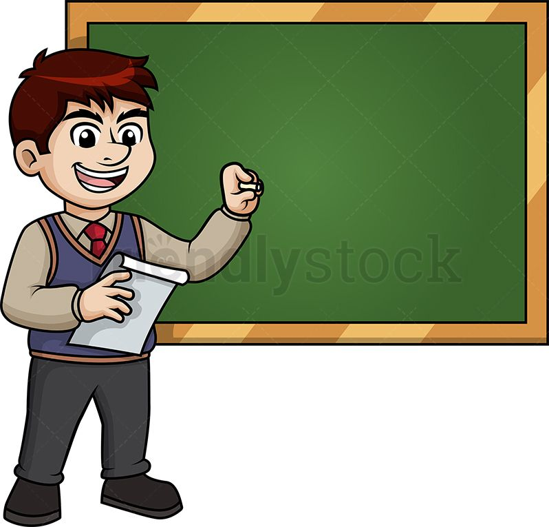 Male Writing Teacher Cartoon Clipart Vector Friendlystock Teacher Cartoon Cartoon Clip Art Character Design