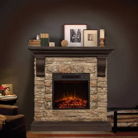 Tremendous Bold Flame 40 Inch Faux Stone Electric Fireplace In Tan Grey Download Free Architecture Designs Meptaeticmadebymaigaardcom