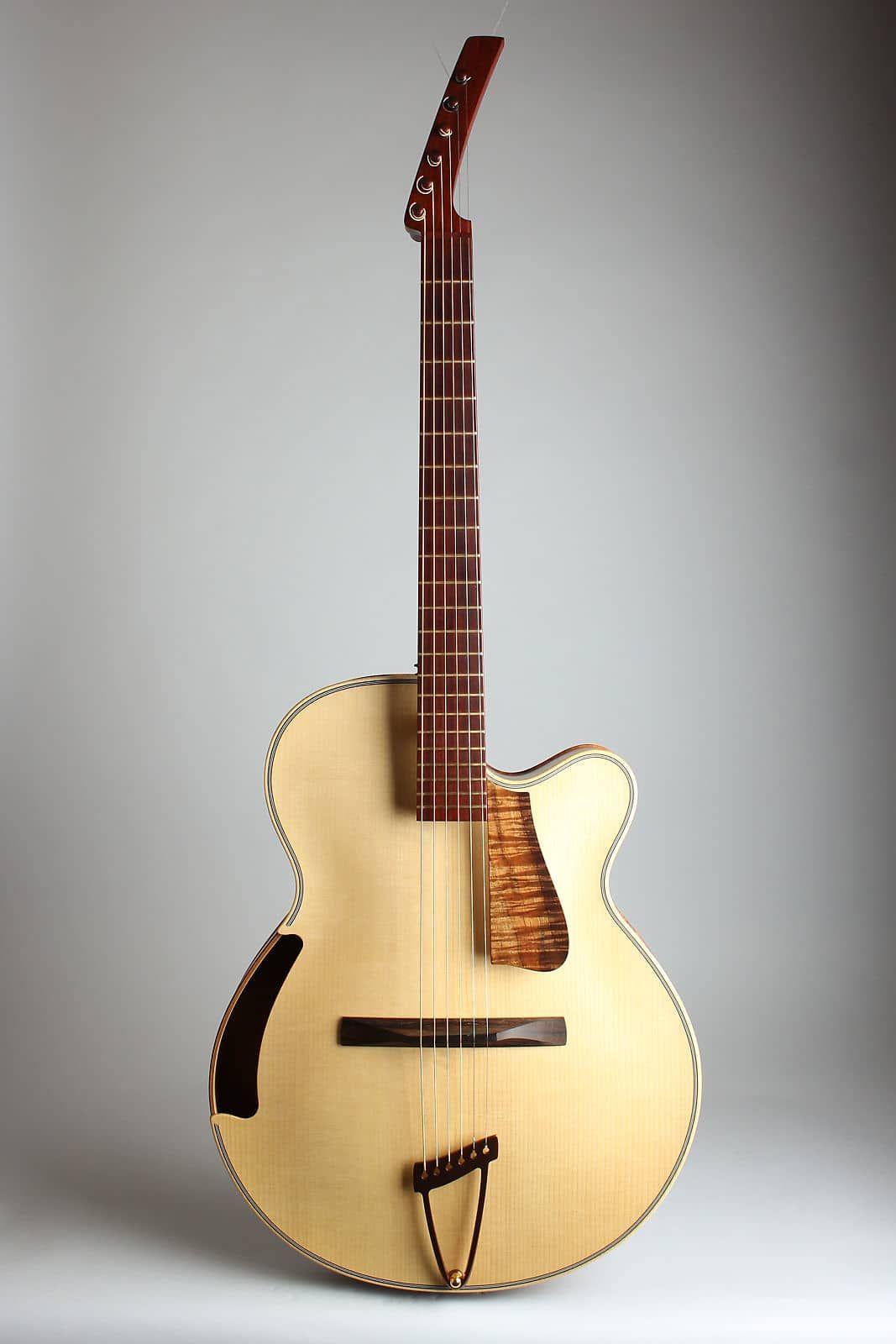 Ken Parker Olive Branch Arch Top Acoustic Guitar 2006 Original Black Hoffee Road Case Retrofret Vintage Guitars Reverb Acoustic Guitar Guitar Archtop Guitar