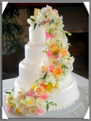pink and yellow wedding cake ideas wedding cake picture with pink yellow and white 18565