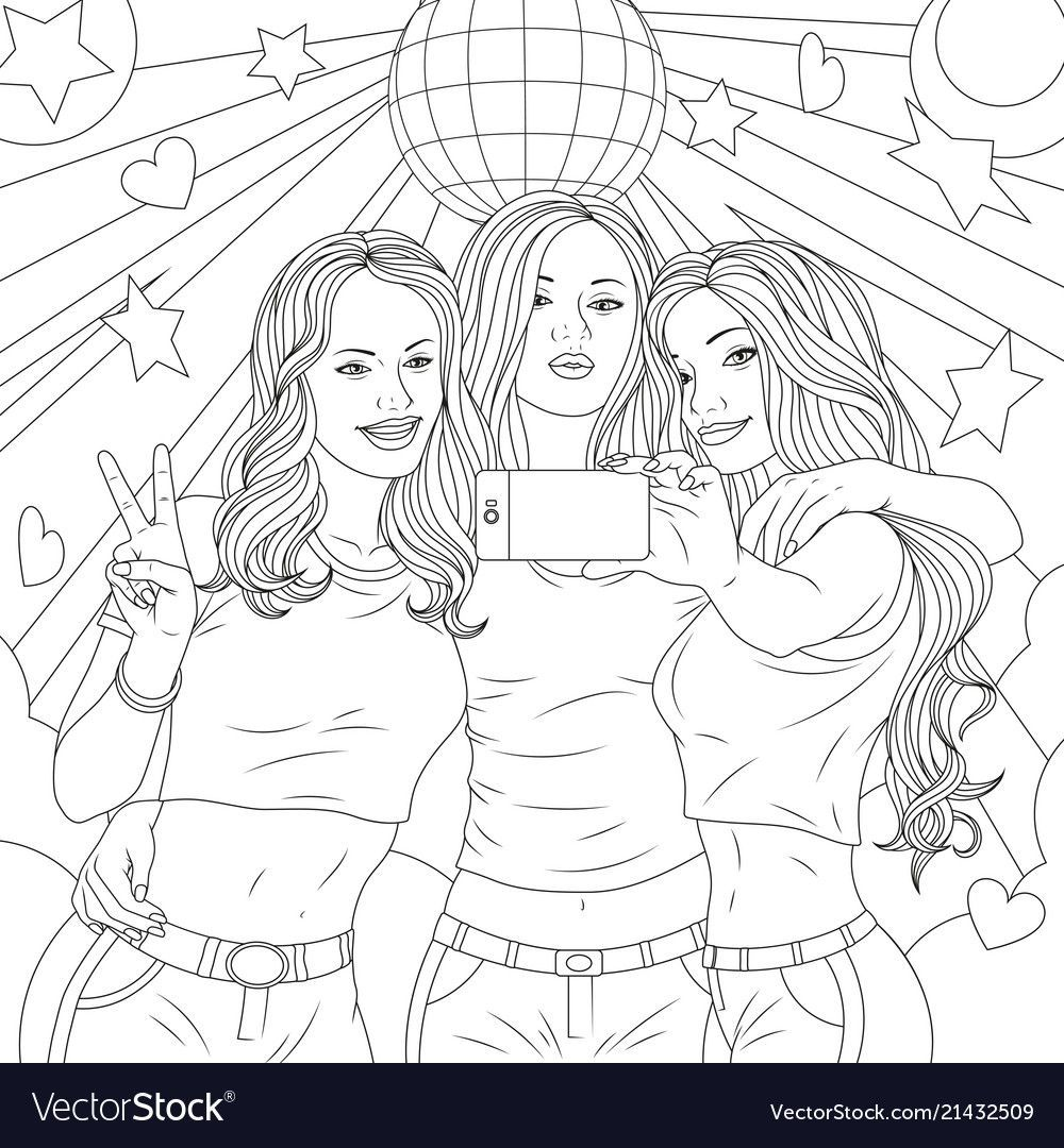 Pin By Braham Yass On Antistress Raskraski In 2020 Drawings Of Friends Friends Sketch Bff Drawings