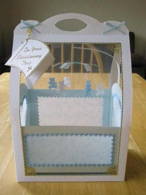 Arty Farty Cot....made from card and vellum