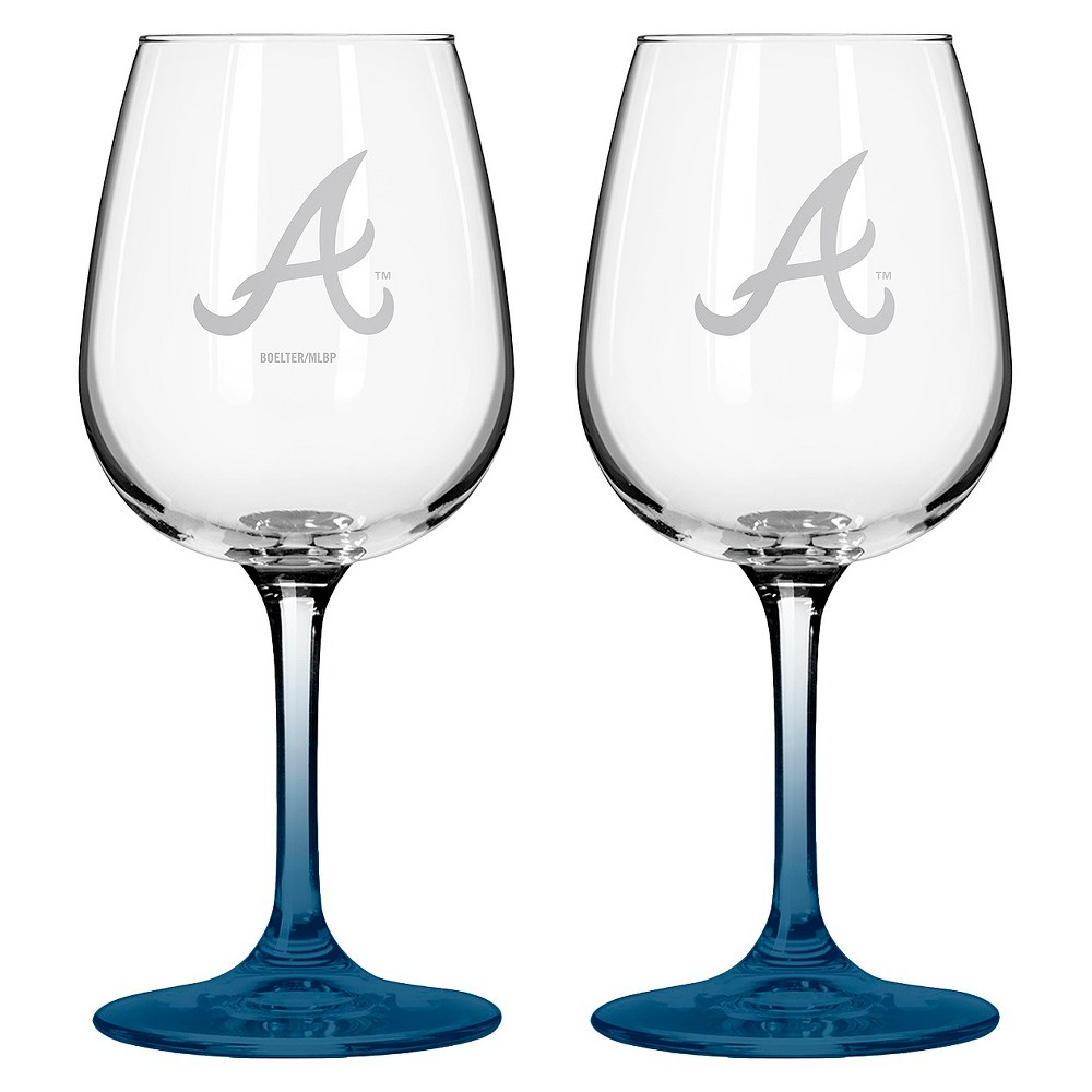 f22619512c25 It's time to stand proud and showcase some team spirit for your beloved  Atlanta Braves with this handsomely etched MLB Braves Wine Glass.
