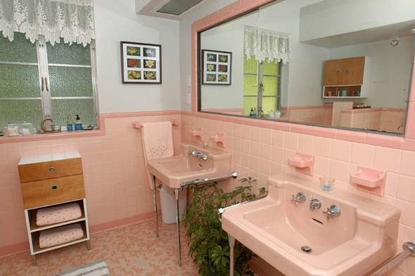 Save The Pink Bathrooms On Pinterest Pink Bathrooms