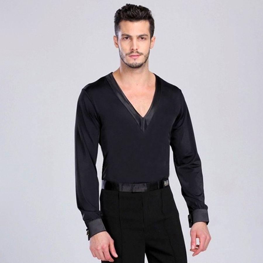 24da6c93daca Click to Buy << Male/Adult/Boy Latin Dance Shirt Mens Shirts Latin ...