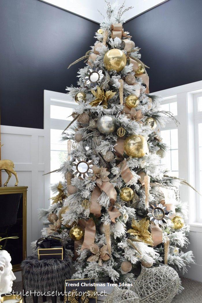23 Christmas Tree Ideas Gold Christmas Decorations Christmas Interiors Christmas Home