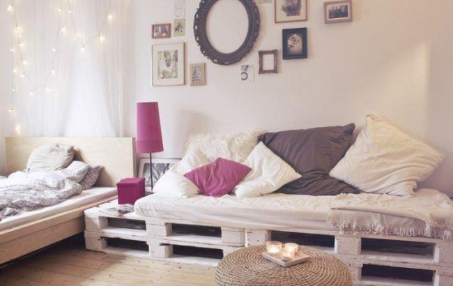 Sofa paletten bauen shabby chic enrichtung new home for Sofa aus paletten bauen