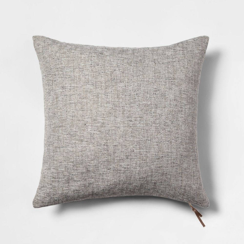 Woven With Exposed Zipper Square Throw Pillow Gray Project 62 Grey Throw Pillows Throw Pillows Pillow Projects