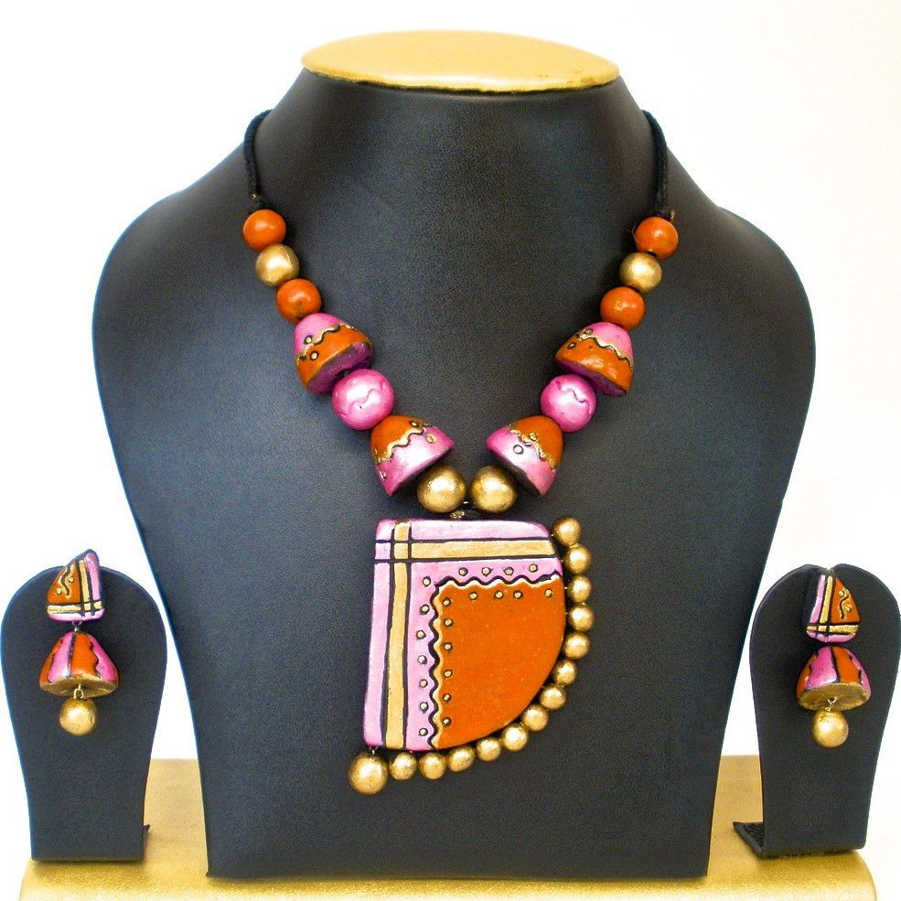 Grand terracotta set terracotta jewellery Pinterest Products
