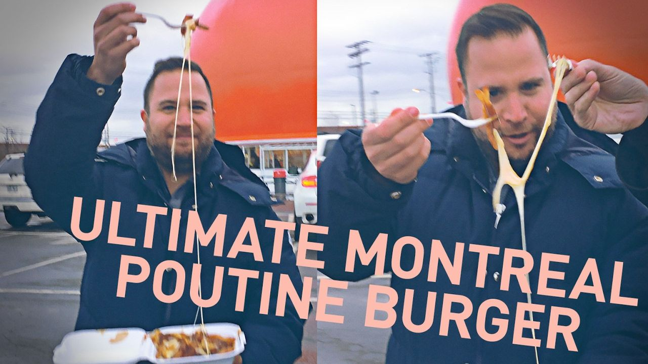 [homemade] My friend is a food stylist who launched a passion project on Youtube. This is his ultimate poutine burger. https://www.youtube.com/watch?v=5CvcG1MSxIY&t=4s