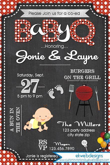 Baby Q Baby Shower Invitation Baby Shower Bbq Bbq Baby Shower Invitations Baby Q Invitations Baby Shower Bbq