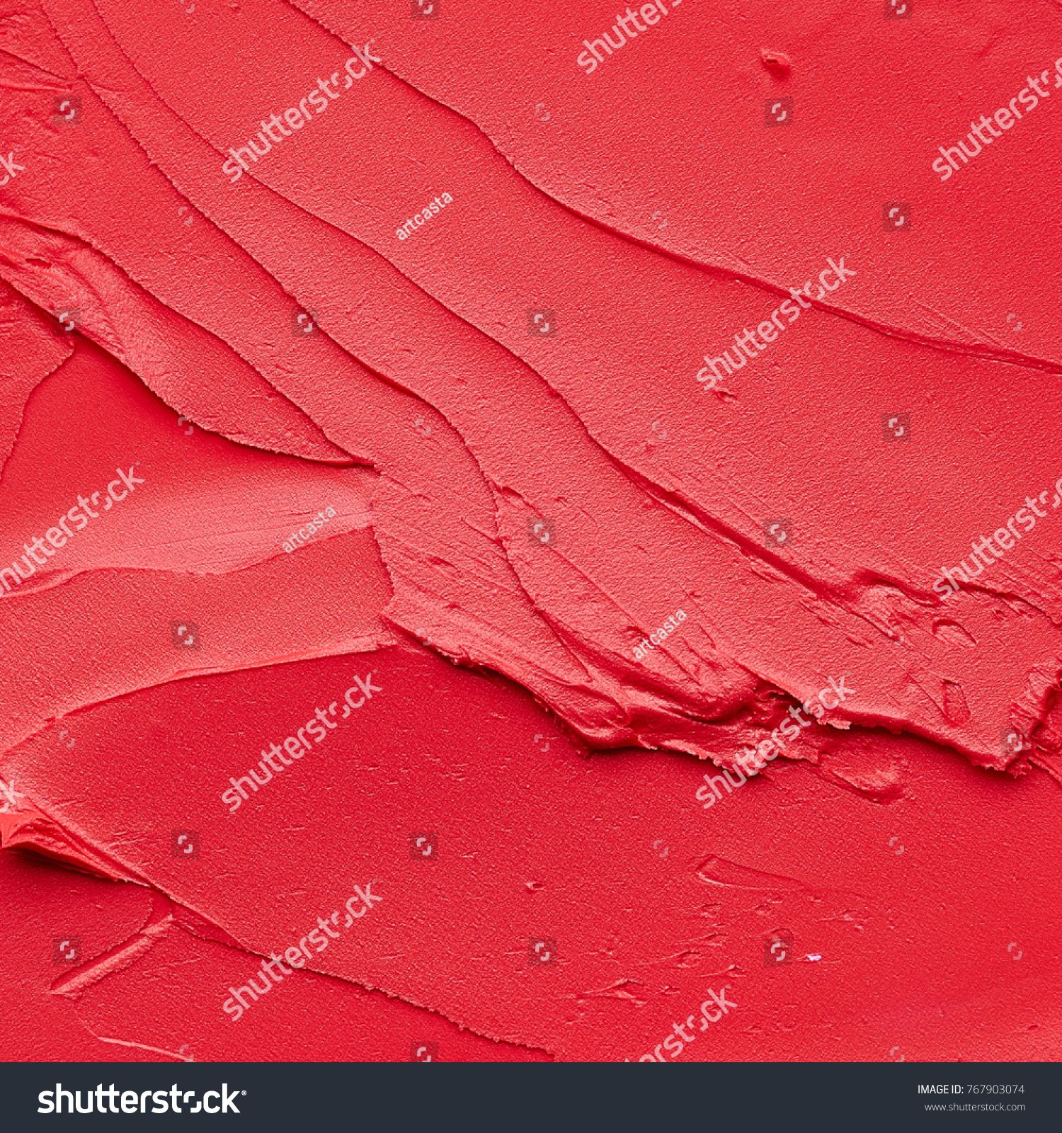 Photo of Red Makeup Smears Lip Gloss Background Stock Photo (Edit Now) 767903074