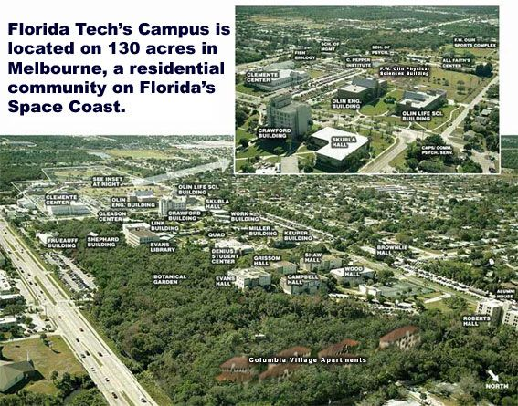 Florida Tech Campus Map Florida Tech Aerial View | Florida Institute of Technology